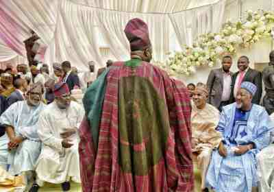 PHOTOS: Gov. Akeredolu At The Wedding Of Gov. Amosun's Daughter