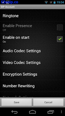 Zoiper Android Enable on start