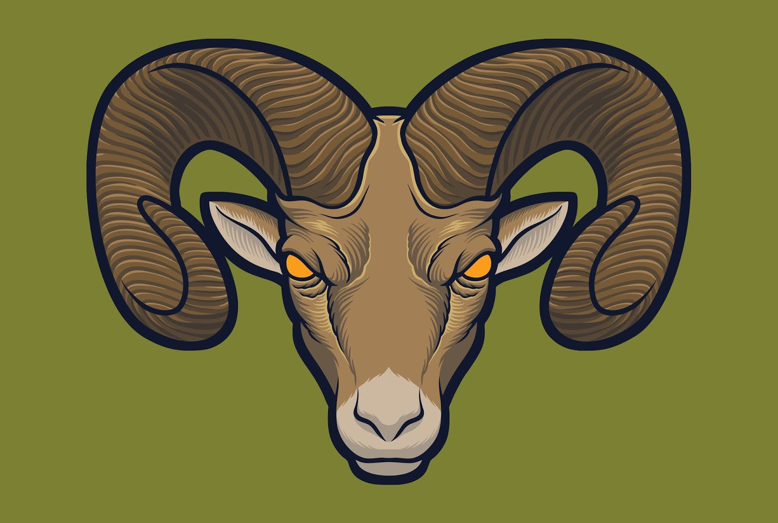 Bighorn Sheep Free Download Vector CDR, AI, EPS and PNG Formats
