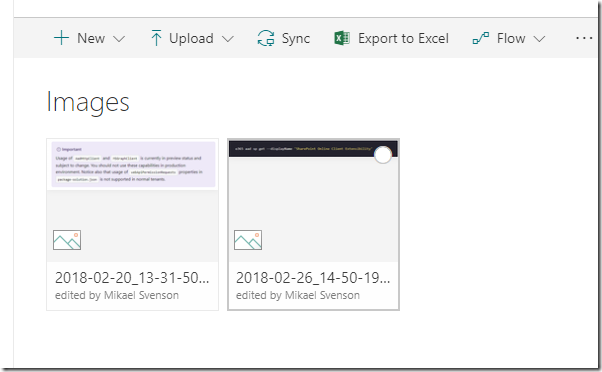Tech and me: How to display images from a SharePoint library in