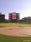 The view from the finish line behind home plate at Turner Field!