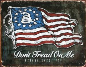 America the beautiful 'don't tread on me'