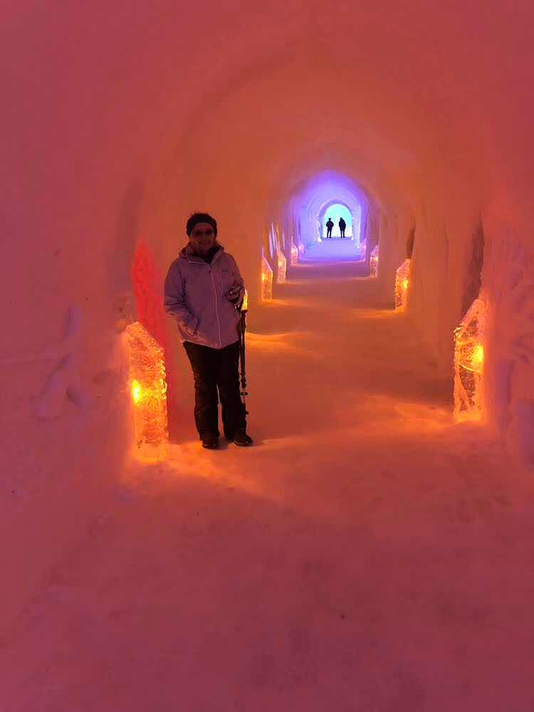 The light behind Resident Astronomer Peggy in the Igloo Hotel is the bar (Sourc: Palmia Observatory)