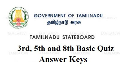 3rd, 5th and 8th Std Basic Quiz Complete Answer Key for All Subjects Download PDF