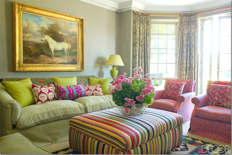 The sitting room is pure penny morrison geared for a younger vibrant english family penny mixed in antique fabrics and the dhurri from irving