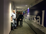 Tom, Ranjit, Kevin and me at the Purple wall of NBCU