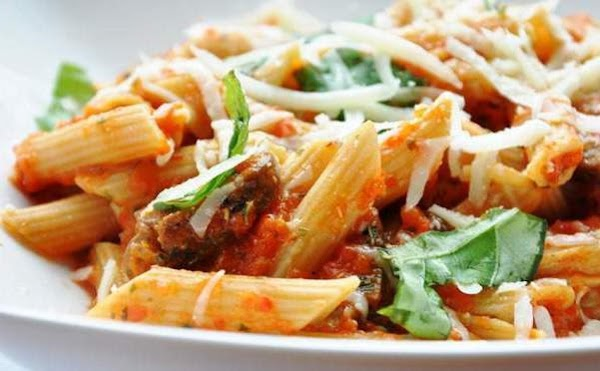 Pasta With Mushrooms, Red Bell Pepper And Pumpkin Recipe