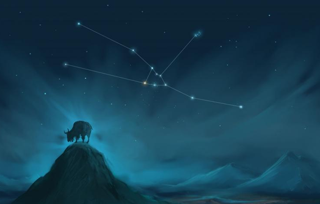 Ilustrasi : Gugus Bintang Pleiades, Rasi  Bintang Taurus