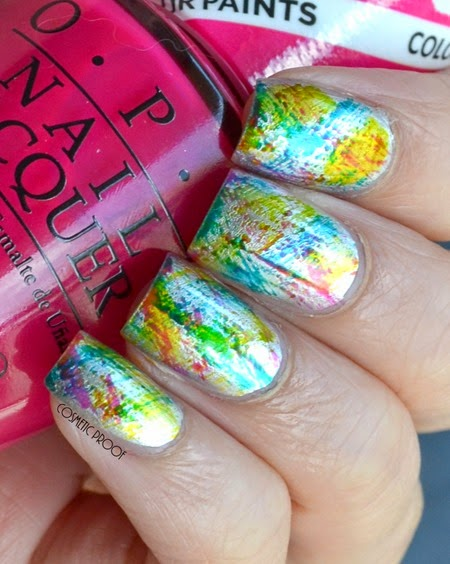 OPI Color Paints Distressed Nail Art Swatch Review (3)