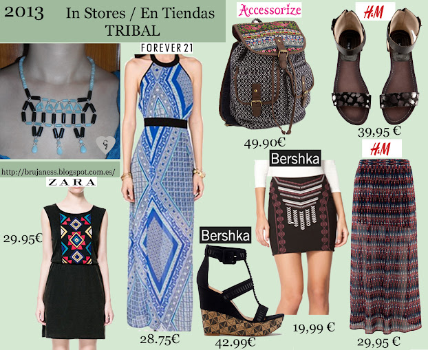 Tribal Season Spring Summer 2013/ Temporada Primavera Verano 2013 Tribal in stores, en tiendas, zara black dress, vestid, negro, bershka, bolso, handbag, forever21, forever 21, long, maxi, azul, blue, skirt, H&M, H & M, sandals, falda, sandalias, bochila, backpack, accessorize, brown