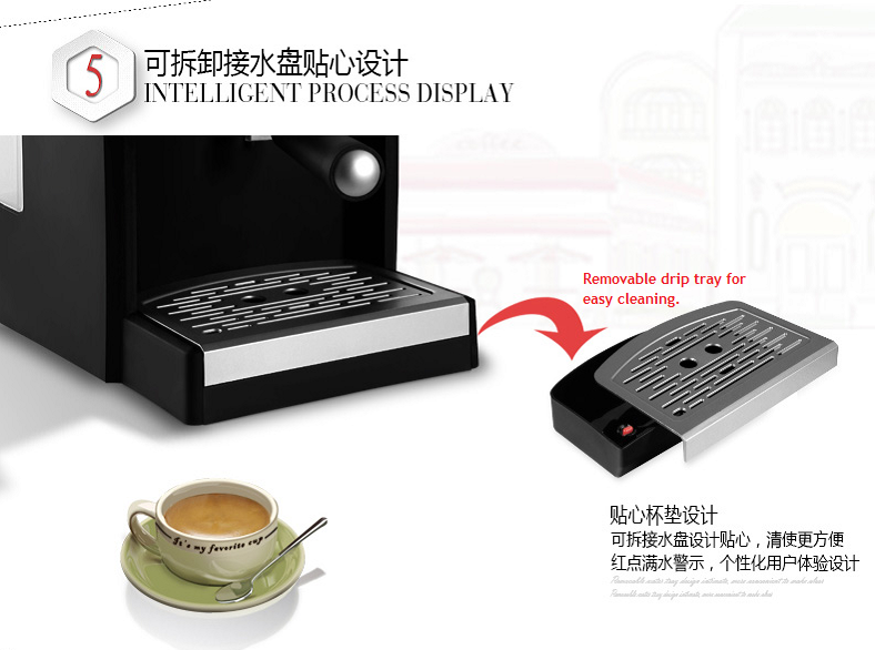 Removable Drip Tray of Gotech coffee machine