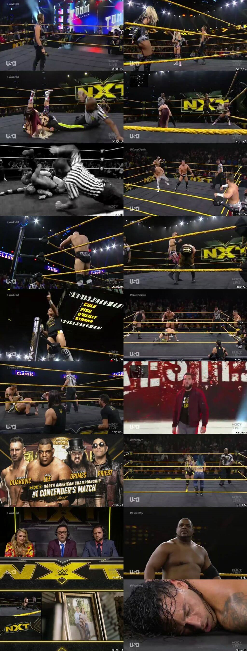 Screen Shot Of WWE NXT 8th January 2020 HDTV 480P 300MB