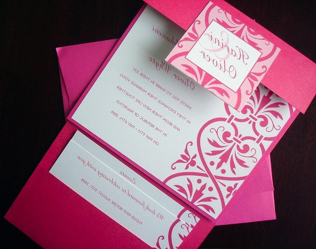 pocket fold Invitation Set