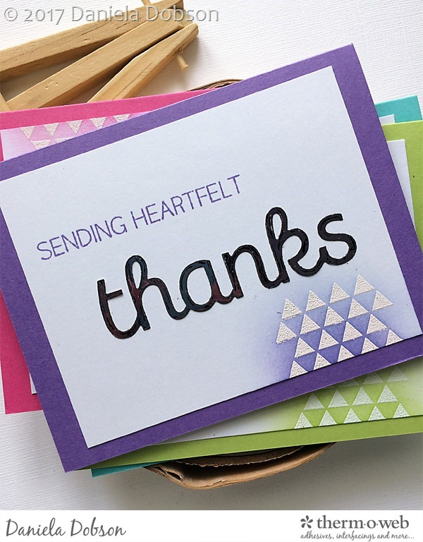 Thank you card set close 4 by Daniela Dobson