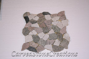 Flooring, Flooring & Mosaics, Green, Interior, Mosaic, Natural, Pattern, Quartzite, Random, Rose, Stone, Tile