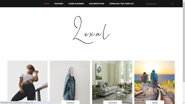 Lexel Blogger Templates, Photography Themes For Blogger