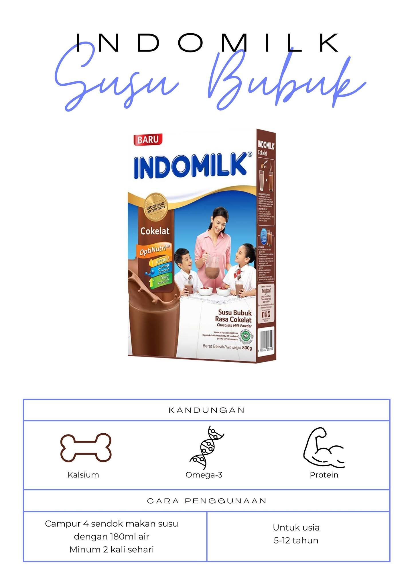 Indomilk Susu Bubuk untuk usia berapa ya?