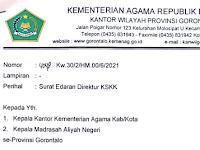 Perihal Surat Edaran Tentang Penyelenggaraan Pembelajaran Tatap Muka Pada Masa Pandemi Covid-19 Di Propinsi Gorontalo