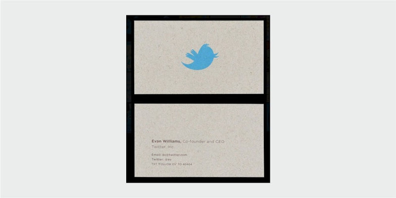 twitter business card design