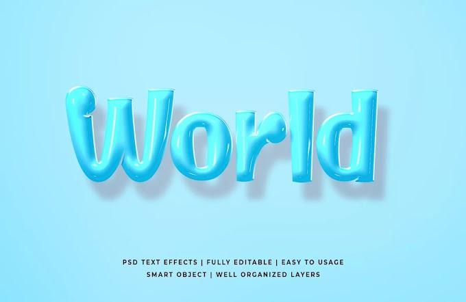 World PSD Text Effect