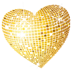 Gold_Disco_Heart_PNG_Clipart_Picture
