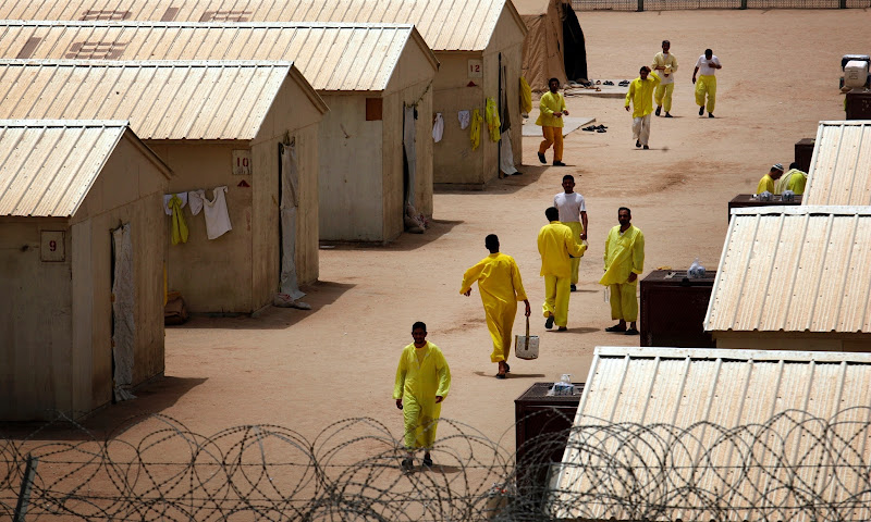 Detainees in Camp Bucca Iraq