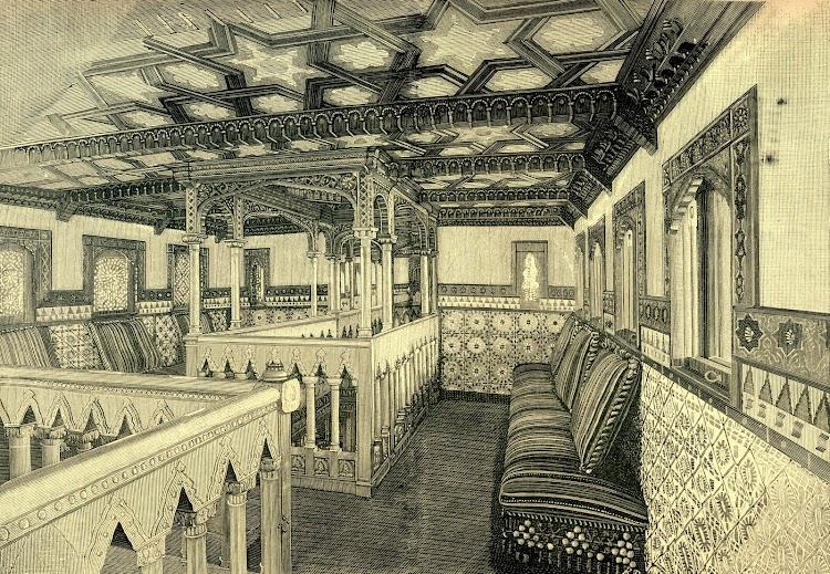 Salon de fumadores. Revista de Navegación y Comercio. Año 1893.jpg