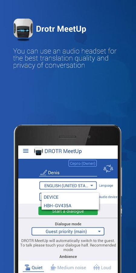 DROTR MeetUP Translator- screenshot