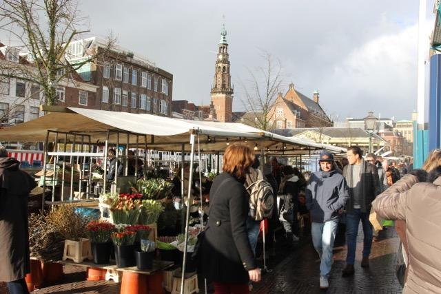 Market day in Leiden