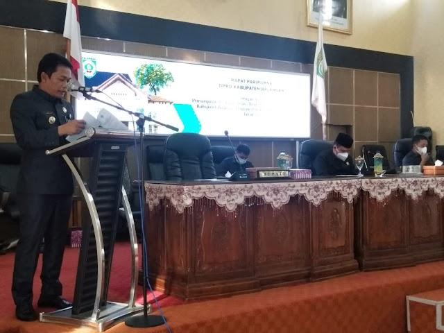 Bupati Abdul Hadi Sampaikan Pidato Pertama di Rapat Paripurna