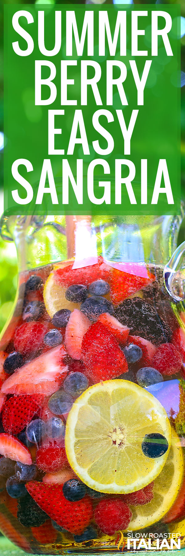 easy sangria recipe closeup