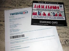 Terravision boarding card