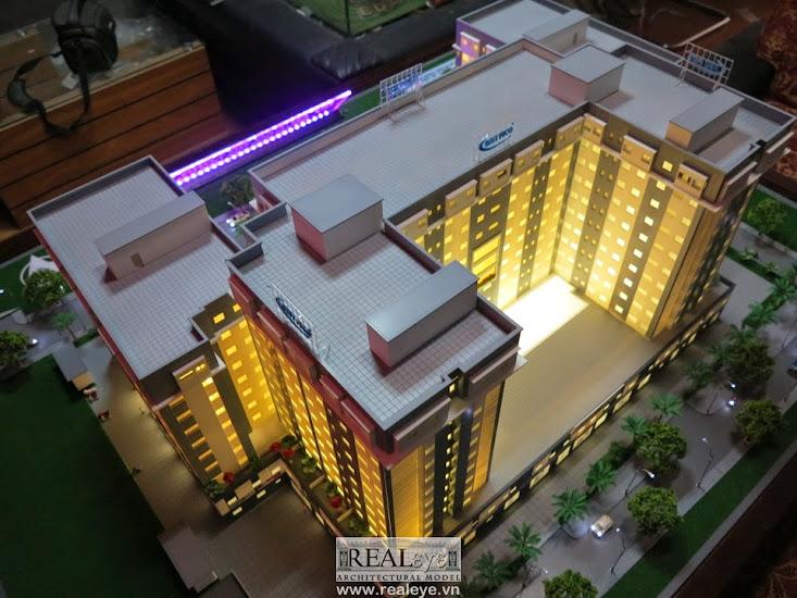 Mô hình kiến trúc REALEYE - Nhìn từ trên cao Cao ốc Long Thịnh