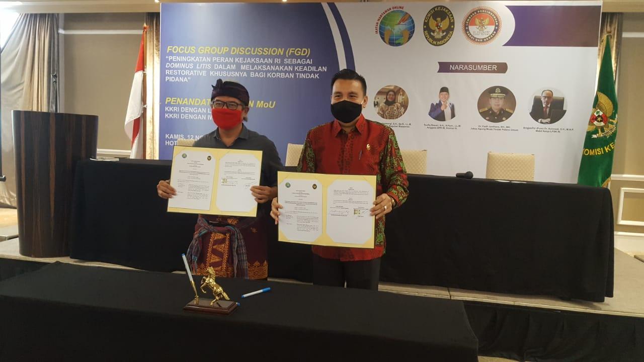 Resmi IWO Kerjasama dengan Komisi Kejaksaan