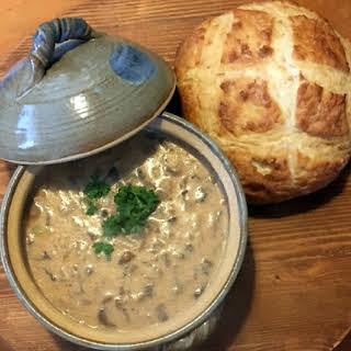 Rustic Hungarian Mushroom Soup.