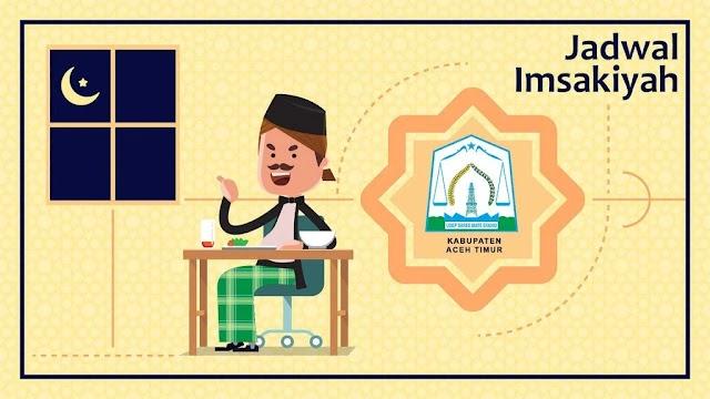 Jadwal Imsakiyah dan Buka Puasa Kab. Aceh Timur 13 April 2021