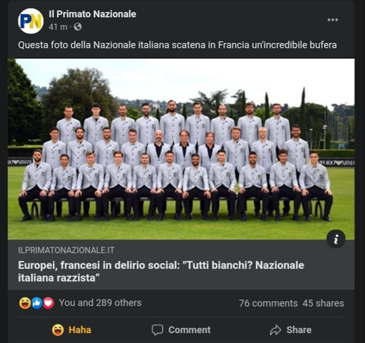 TELL THE FRENCH THE PLAYERS ARE NOT CHOSEN FOR THE SKIN COLOUR