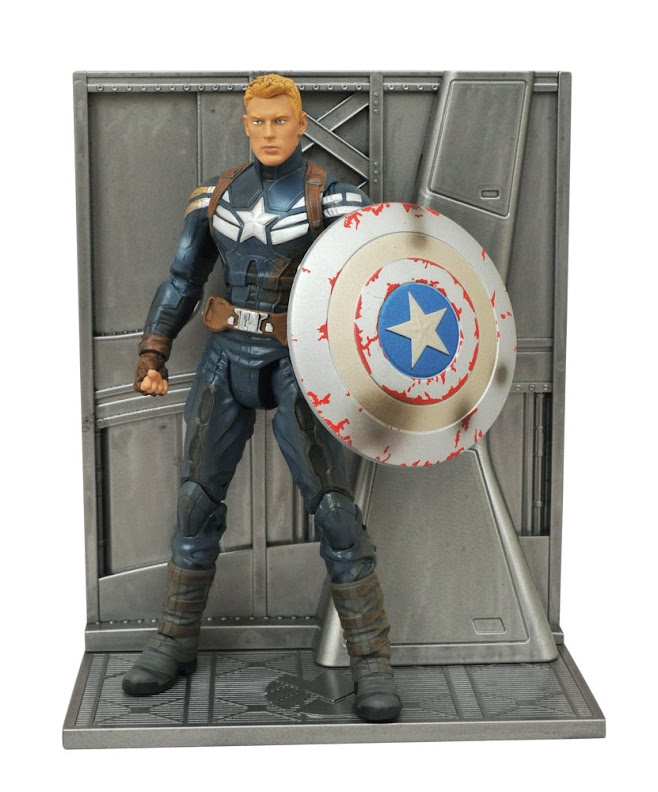Teksushi Marvel Select Unmasked Captain America Winter Soldier