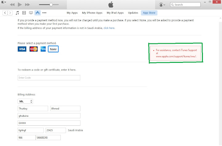 I cant create apple id , showing an error in red - GSM-Forum