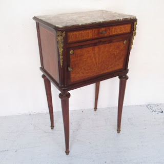 Antique Stone Top Accent Table
