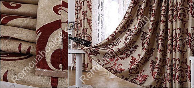 Rèm cửa sổ phòng ngủ đẹp vector cuốn 10
