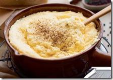 Polenta cremosa con parmigiano e pepe