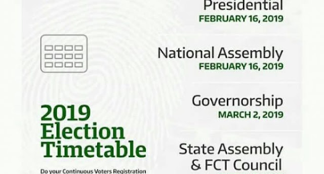 2019 General Election Timetable Is Out (Photo)