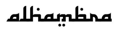 font alhambra arabic