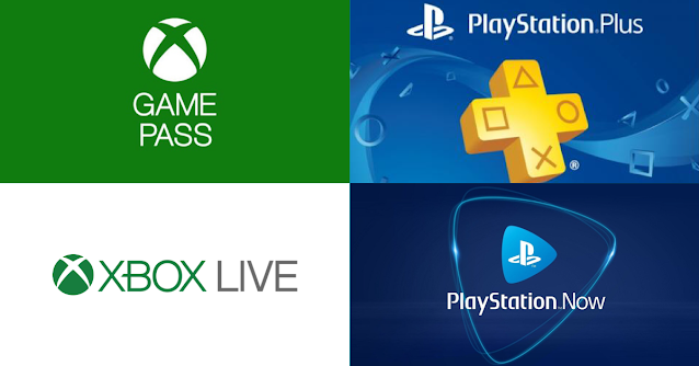 PS PLUS, PS NOW, XBOX GAMEPASS and XBOX LIVE