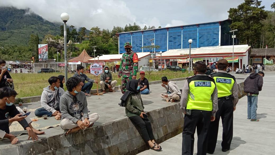 Koramil 07/Selo Gelar Operasi Yustisi PPKM Mikro di Simpang PB Ngaglik