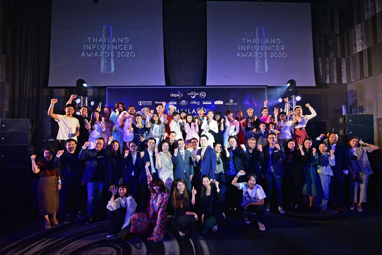 Influencer และแบรนด์ไทย ตบเท้ารับรางวัล Thailand Influencer Awards 2020 จัดโดย Tellscore