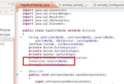 Acceso a BD MySQL desde Android con JDBC y Eclipse