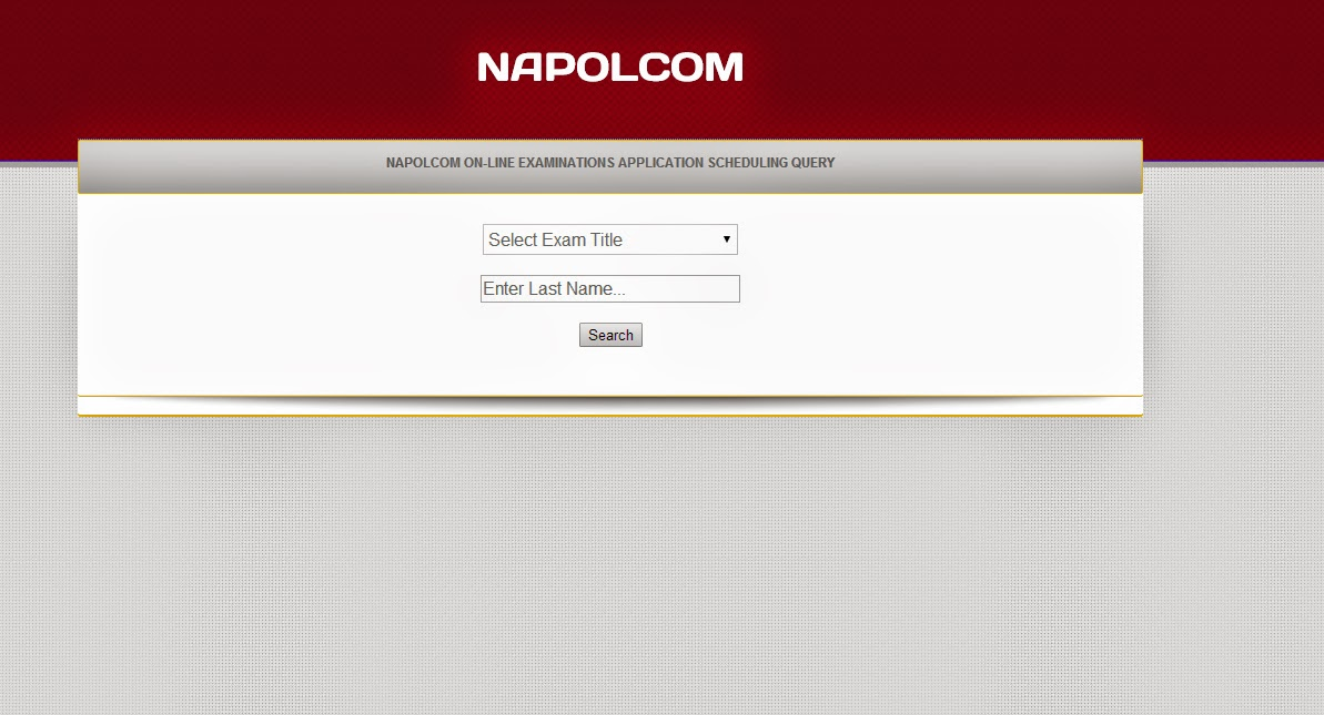 NAPOLCOM 2014 PNP Online Exam Application, Scheduling Query  http://www.napolcom-oleass.com