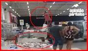 VÍDEO: Homem despeja quase 100 quilos de peixe na entrada de chão em supermercado de Parnaíba